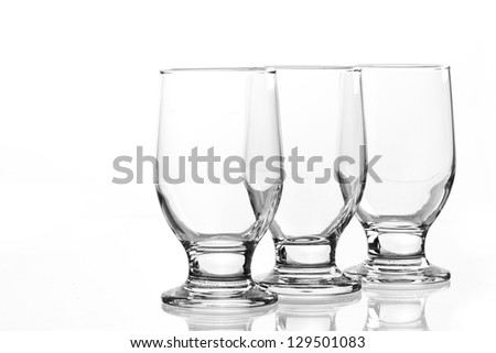 Group of elegant glass isolated on a white background