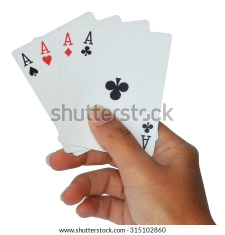 group of French playing cards on white background