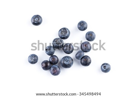 Group of fresh blueberries isolated