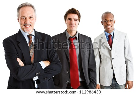 Group of friendly business people - stock photo