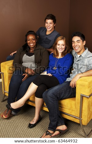 Group of Friends- Diverse Group of People - stock photo