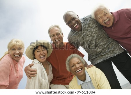 Group of Friends Laughing - stock photo