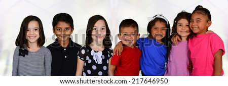 Group of friends who are standing together - stock photo