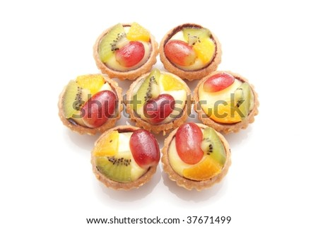 Group of fruit tarts