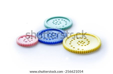 Group of Gear Wheels, Business abstract. - stock photo