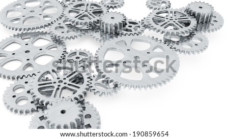 group of gears for use in presentations, manuals, design, etc. - stock photo