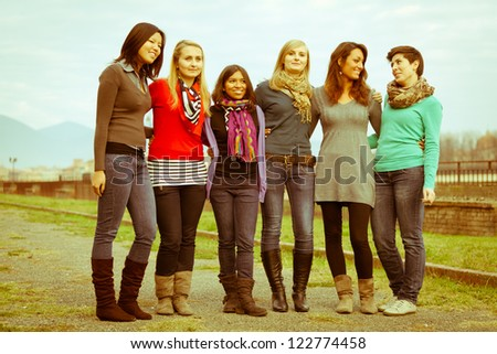 Group of Girls Outside