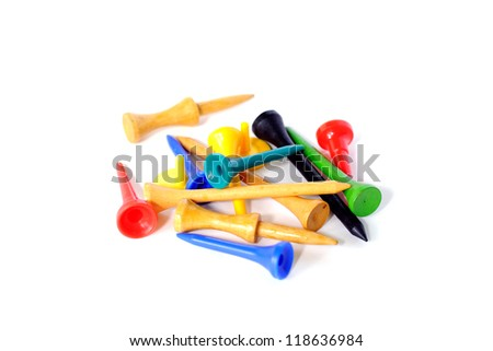 group of golf tees - stock photo