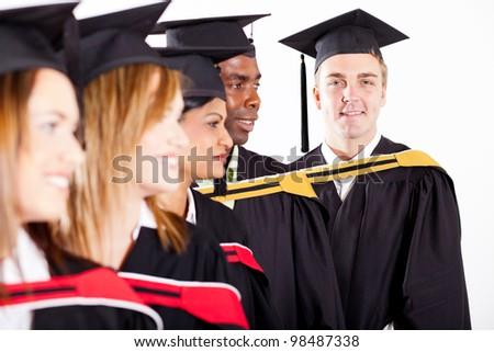group of graduates at graduation - stock photo