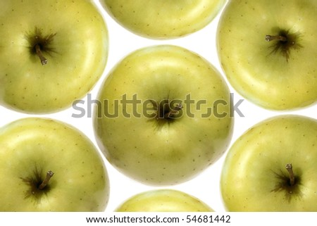 group of green apples - stock photo