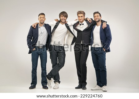 Group of handsome men - stock photo