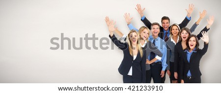 Group of happy business people . - stock photo