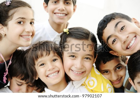 Group of happy children