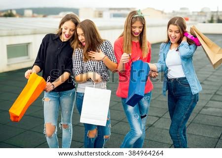 High school friends talking