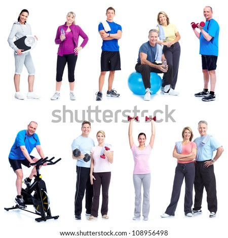 Group of healthy people. Fitness and gym. - stock photo