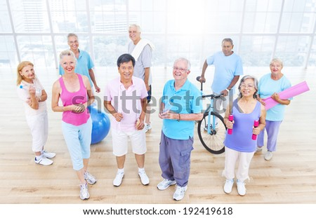 Group of Healthy People in the Fitness