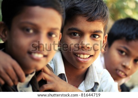 Group of Indian teen boys posing to the camera.