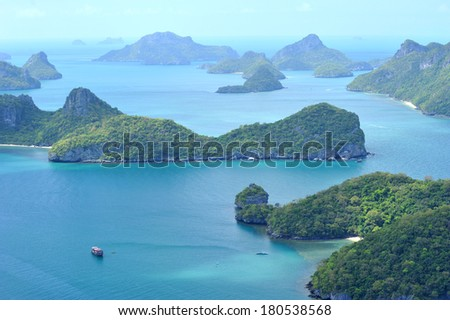 Group of islands Angthong in Suratthani, Thailand