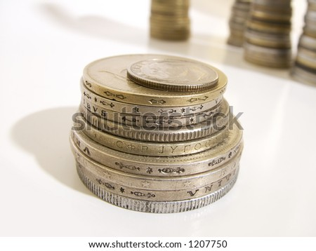 Group of isolated coins