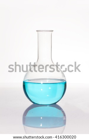 Group of laboratory flasks empty