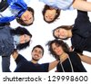 Group of merry students. - stock photo