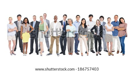 Group of multi-ethnic and diverse occupational people
