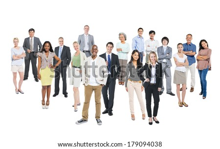 Group of Multi-ethnic Diverse Cheerful Business People