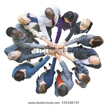 Group of Multiethnic Business People United as One - stock photo
