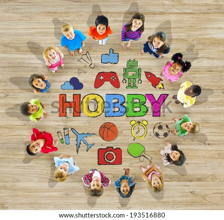 Group of Multiethnic Children with Hobby - stock photo