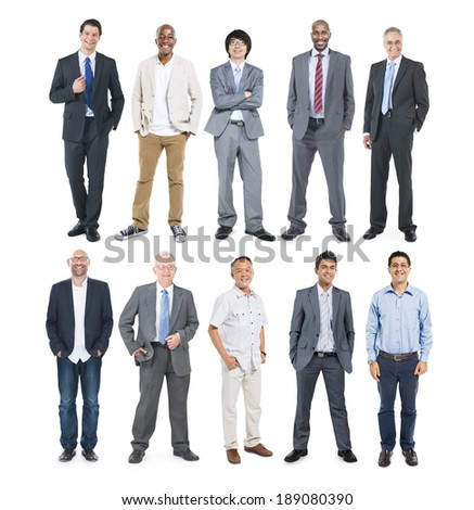 Group of Multiethnic Diverse Cheerful Businessmen - stock photo