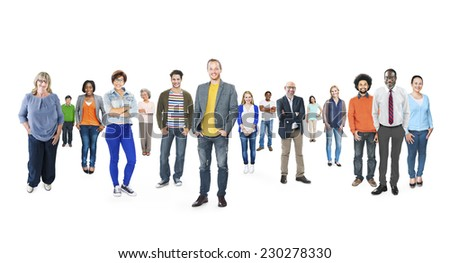 Group of Multiethnic Diverse Cheerful People - stock photo