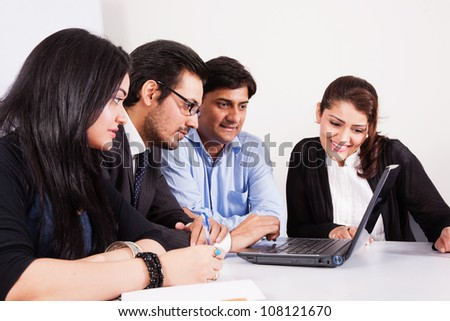 group of multiracial business people in meeting