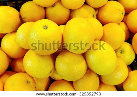 Group of Navel Orange in the market