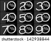 Group of numbers with percent symbol - stock photo