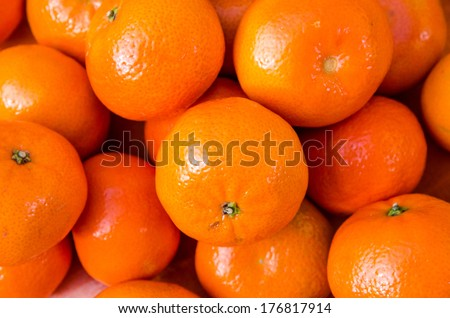 group of orange fruit background