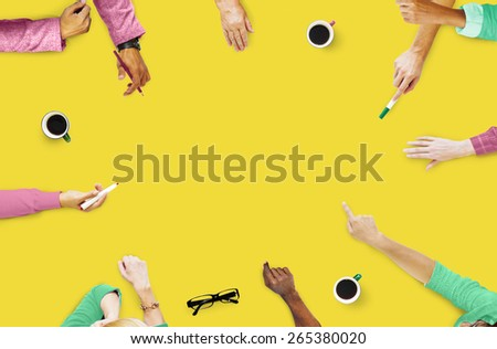 Group of People Brainstorming Meeting Discussion Concept - stock photo