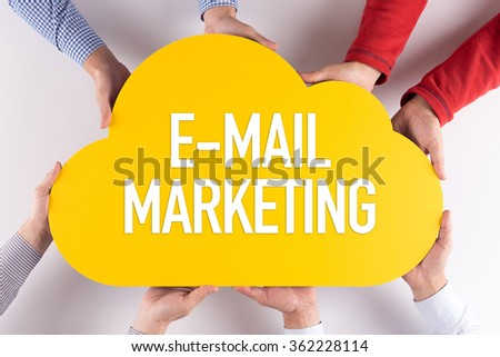 Group of People Cloud Technology E-MAIL MARKETING Concept - stock photo