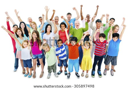 Group of People Community Celebration Happiness Concept - stock photo