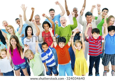 Group of People Community Celebration Happiness Concept