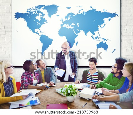 Group of People in a Meeting - stock photo