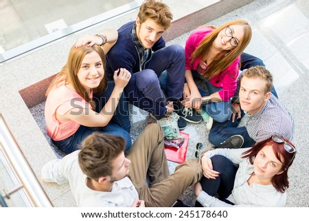 Group of people in real authentic life - stock photo