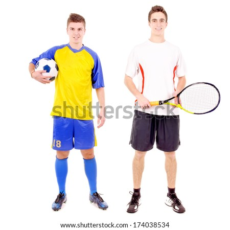 group of people in sport outfits - stock photo