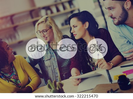 Group of People Meeting Discussion Talking Friendship Concept - stock photo