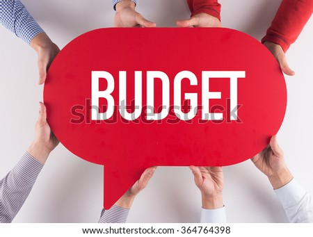 Group of People Message Talking Communication BUDGET Concept - stock photo