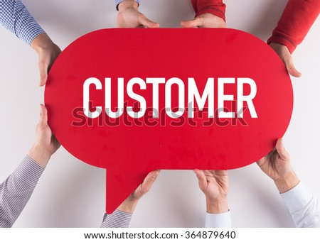 Group of People Message Talking Communication CUSTOMER Concept - stock photo