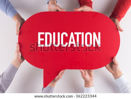 Group of People Message Talking Communication EDUCATION Concept - stock photo