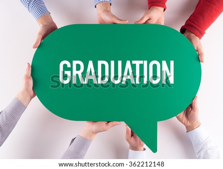 Group of People Message Talking Communication GRADUATION Concept - stock photo