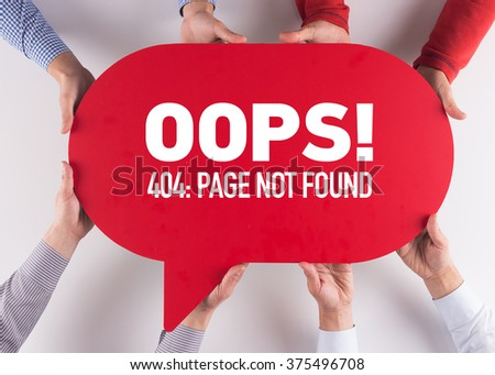 Group of People Message Talking Communication Page Not Found Concept - stock photo