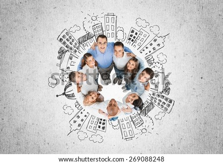 Group Of People, Multi-Ethnic Group, Happiness. - stock photo