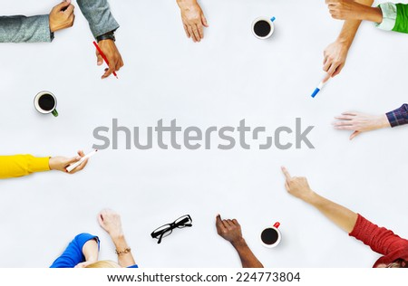 Group of People Planning on a New Project - stock photo